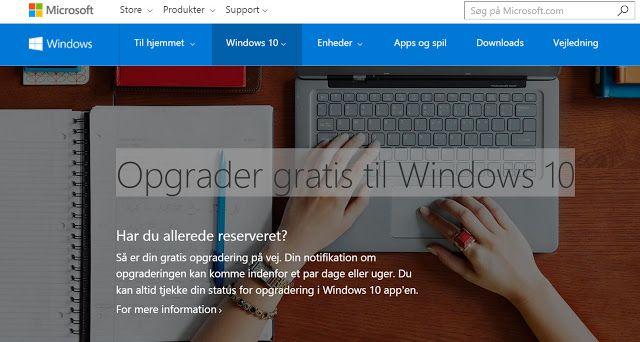 """Gode tilbud, jeg """" falder over """" undervejs: Opgrader gratis til Windows 10"""