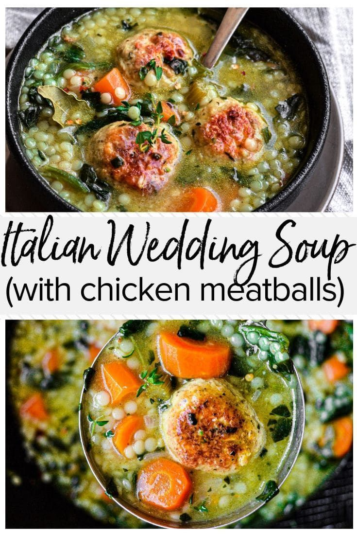 This easy recipe for Italian Wedding Soup with Chicken