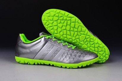 Adidas ACE 15.1 TF Turf Silver Metallic Solar Soccer Cleats Green Core Black e040a80fb8f2