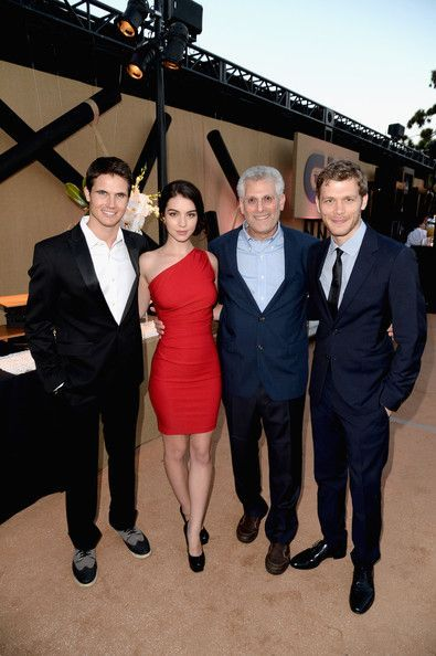 Photo of Joseph Morgan, Robbie Amell, Adelaide Kane and CW President Mark Pedowitz at the…