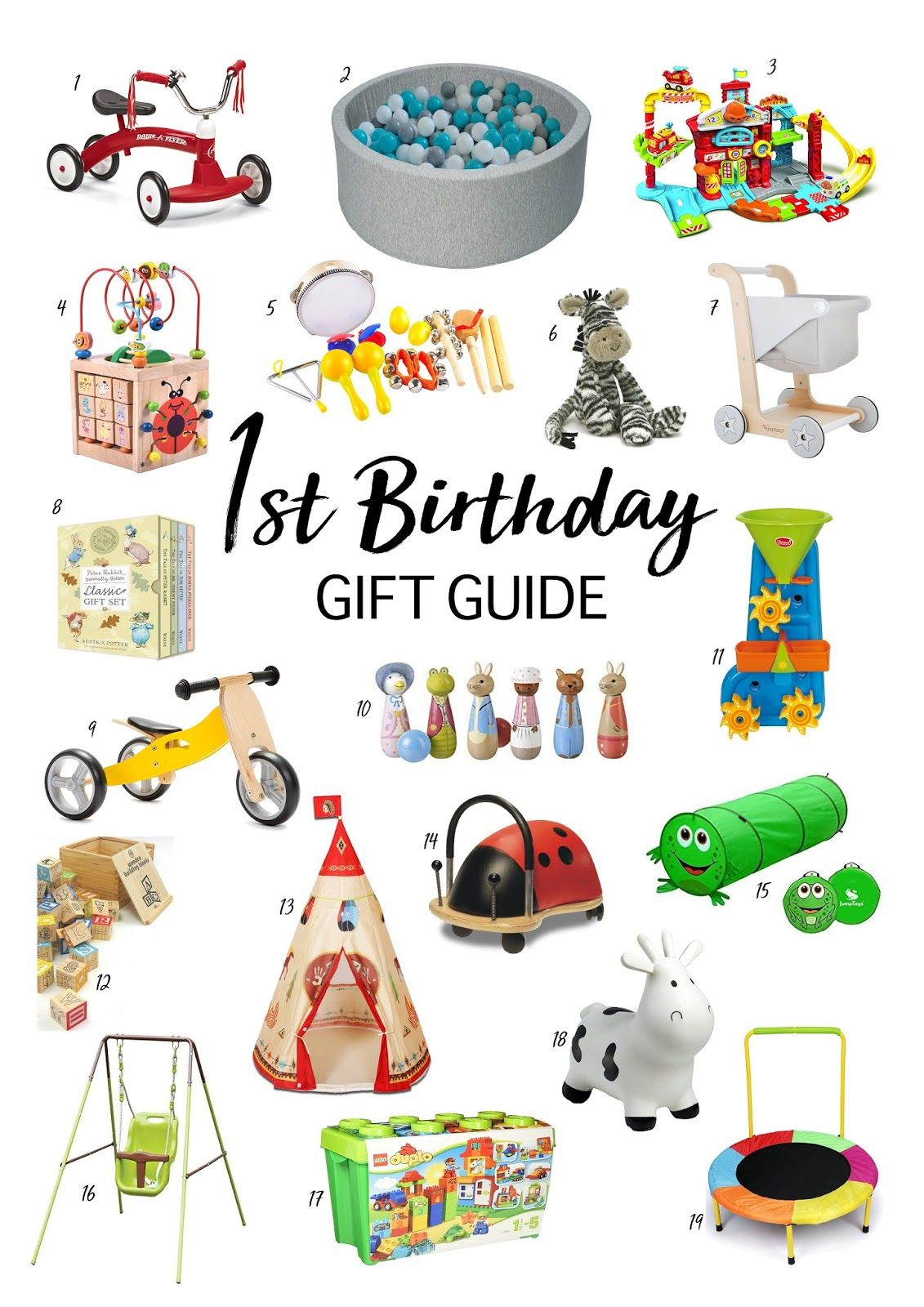 Gift Guide Ideas For 1st Birthday Presents