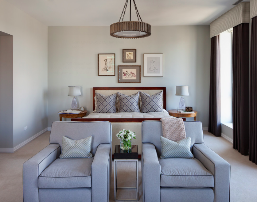 Bedroom Design Gray Owl Benjamin Moore Traditional Muted Colors With Antique Furniture Bedside Chest Bedrooms