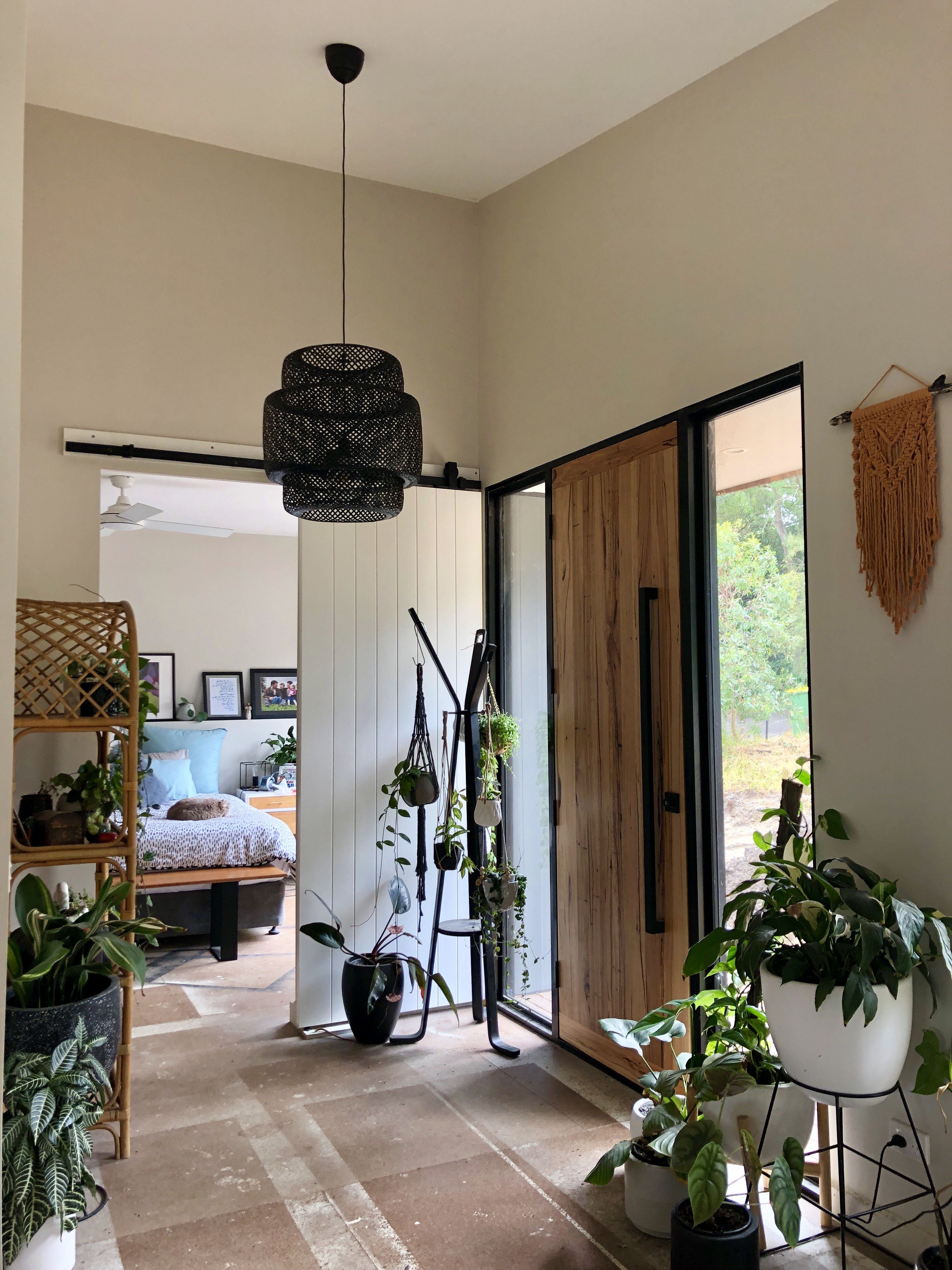 Ikea pendant 'SINNERLIG' painted black sitting pretty in our