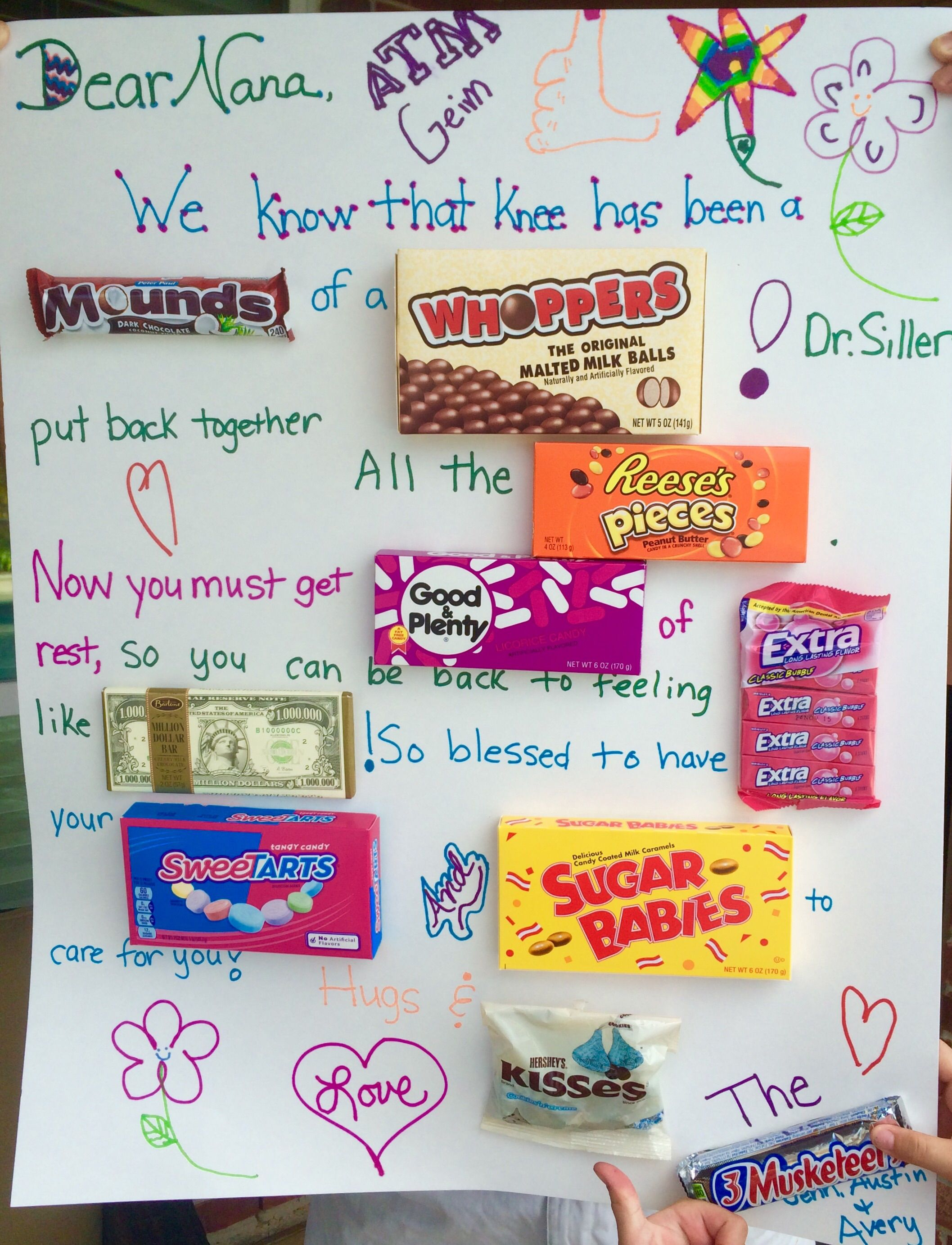 get well soon candy card thoughtfully creative pinterest
