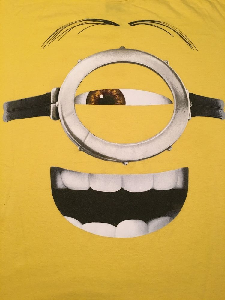 e72800596 DESPICABLE ME Adult Graphic T-Shirt. Yellow. Size XL #DespicableMe  #GraphicTee