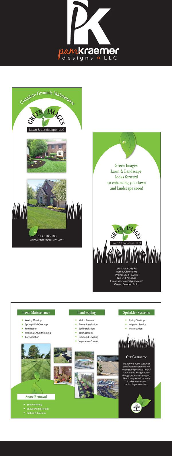 brochure design for a lawn and landscape company brochure flyer