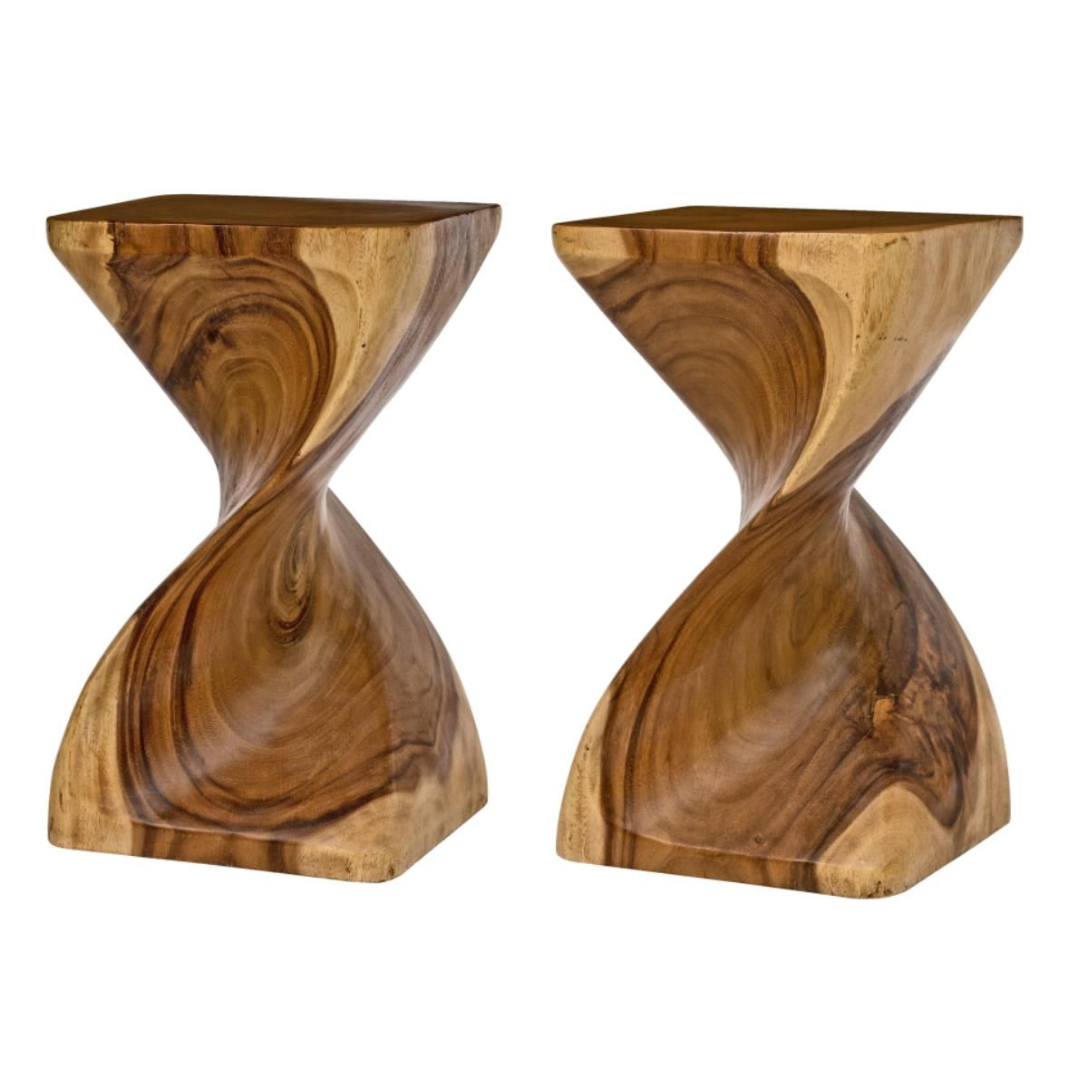 This striking Surin Twist Table is hand carved from Monkey Pod Wood ...
