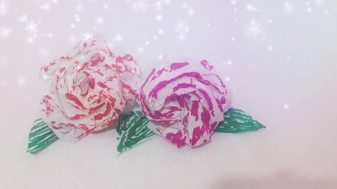 Flower Making With Tissuediy From Tissue Papercraft Pinterest