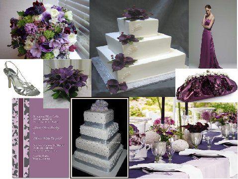 Purple Haze An Inspiration Board Wedding Grey And Ideas