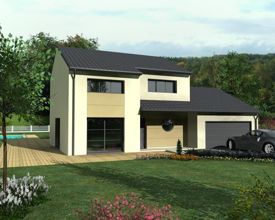 Aude Design est un modèle de maison de style moderne avec étage, 3 - Facade Maison Style Moderne