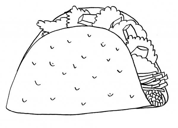 Mexican Taco Junk Food Coloring Page Download Print Online Coloring Pages For Free Color Nimbu Food Coloring Pages Coloring Pages Coloring Pages For Kids