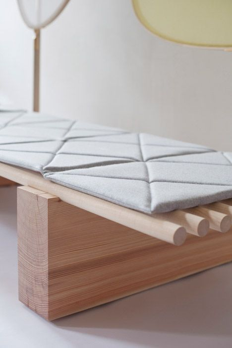 Japanese Influenced Daybed Featuring Built In Privacy Screens