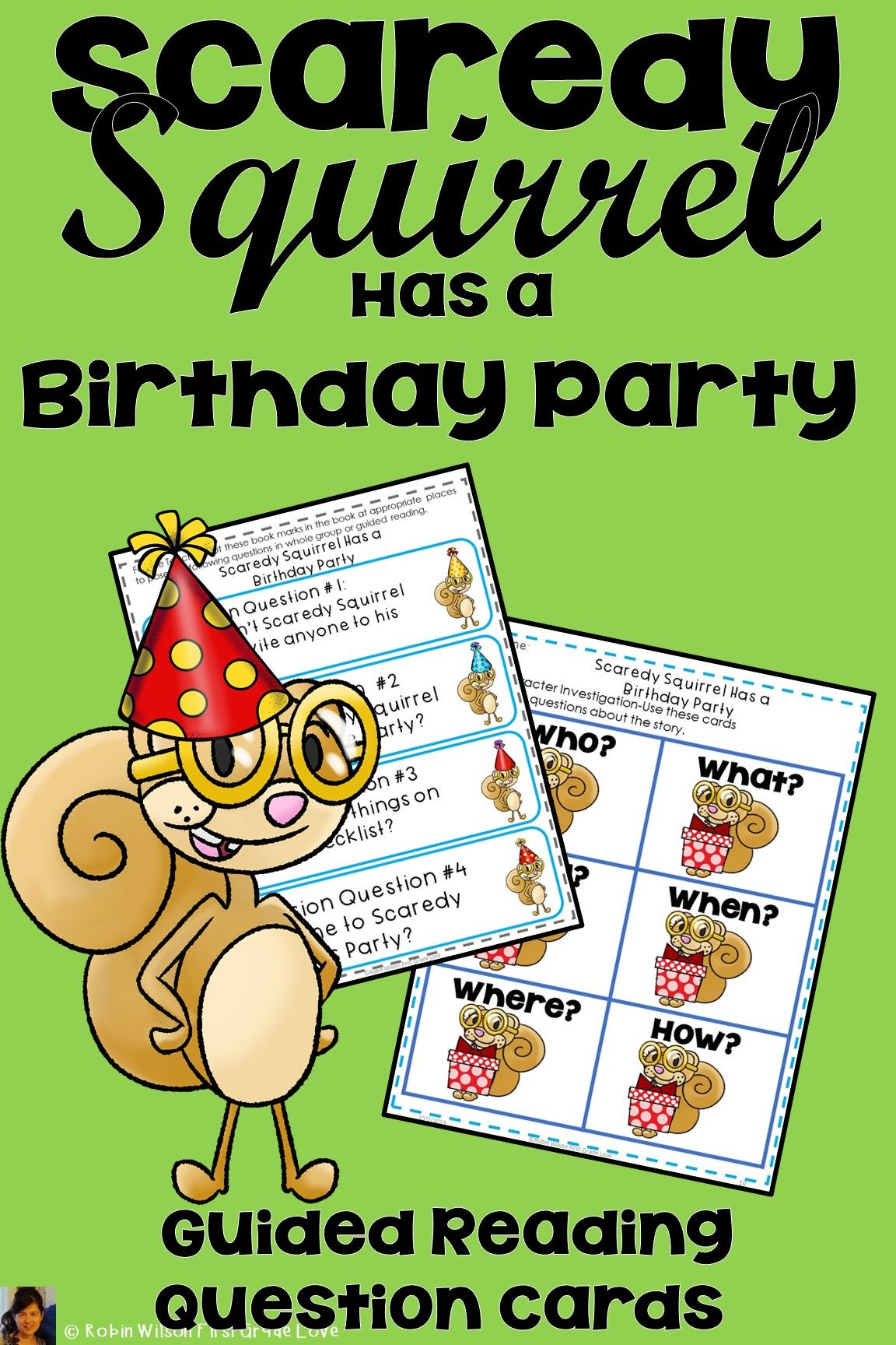 Scaredy Squirrel Has a Birthday Party Guided reading