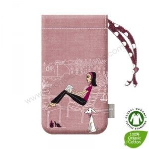 "Pochette iPhone/iPod touch rose ""La petite parisienne"" by ZAZAZOU"