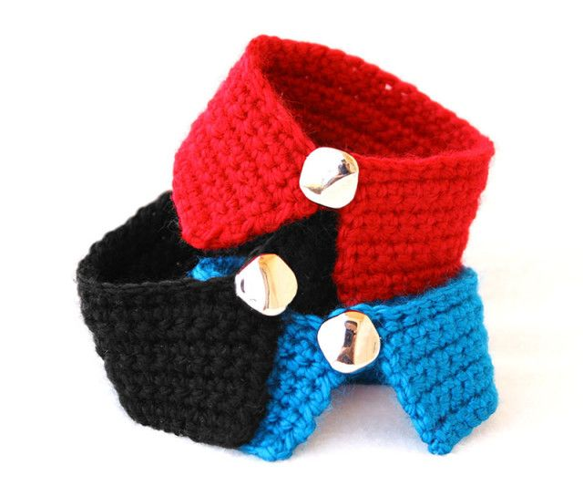 Free Pattern Simple Collar Bracelet Dog Accessories Crochet Dog