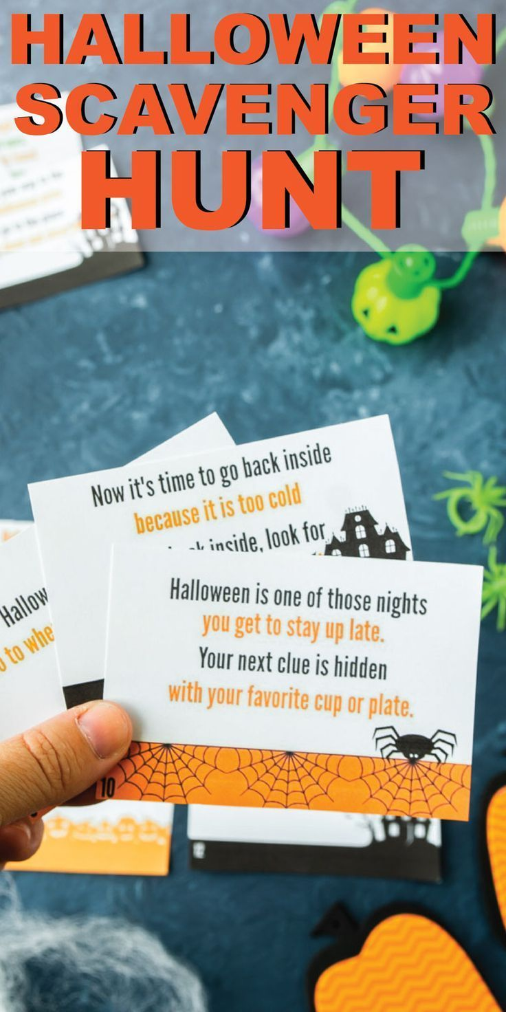 This Printable Halloween scavenger hunt is perfect for