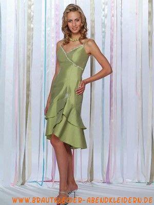 2012 Grüne ausgefallene Cocktailkleider aus Taft V-Ausschnitt ...