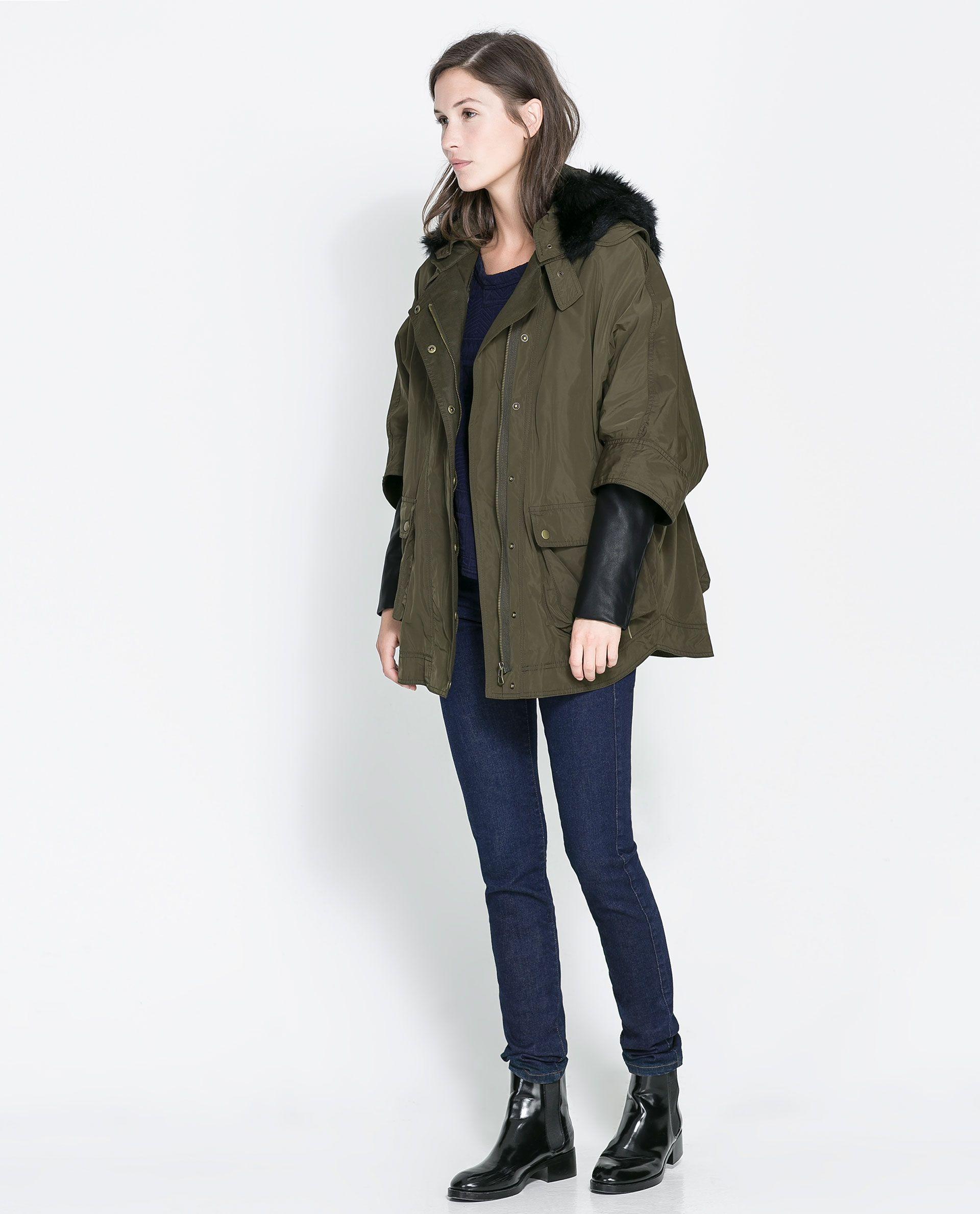 336025c8 COMBINATION PARKA - Coats - Woman | ZARA United States ...