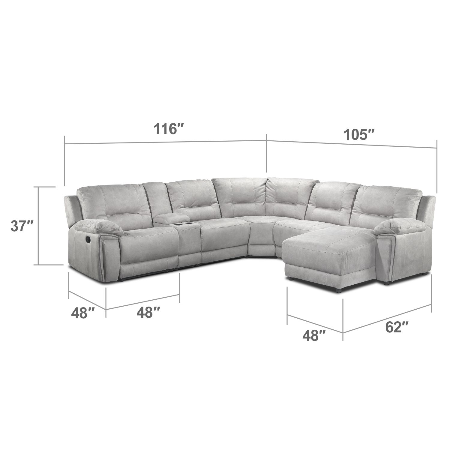 Cool Pick. The Easy To Coordinate Grey Colour Of The Pasadena Sectional Sofa  Offers A Cool, Modern Neutral For Your Living Room.