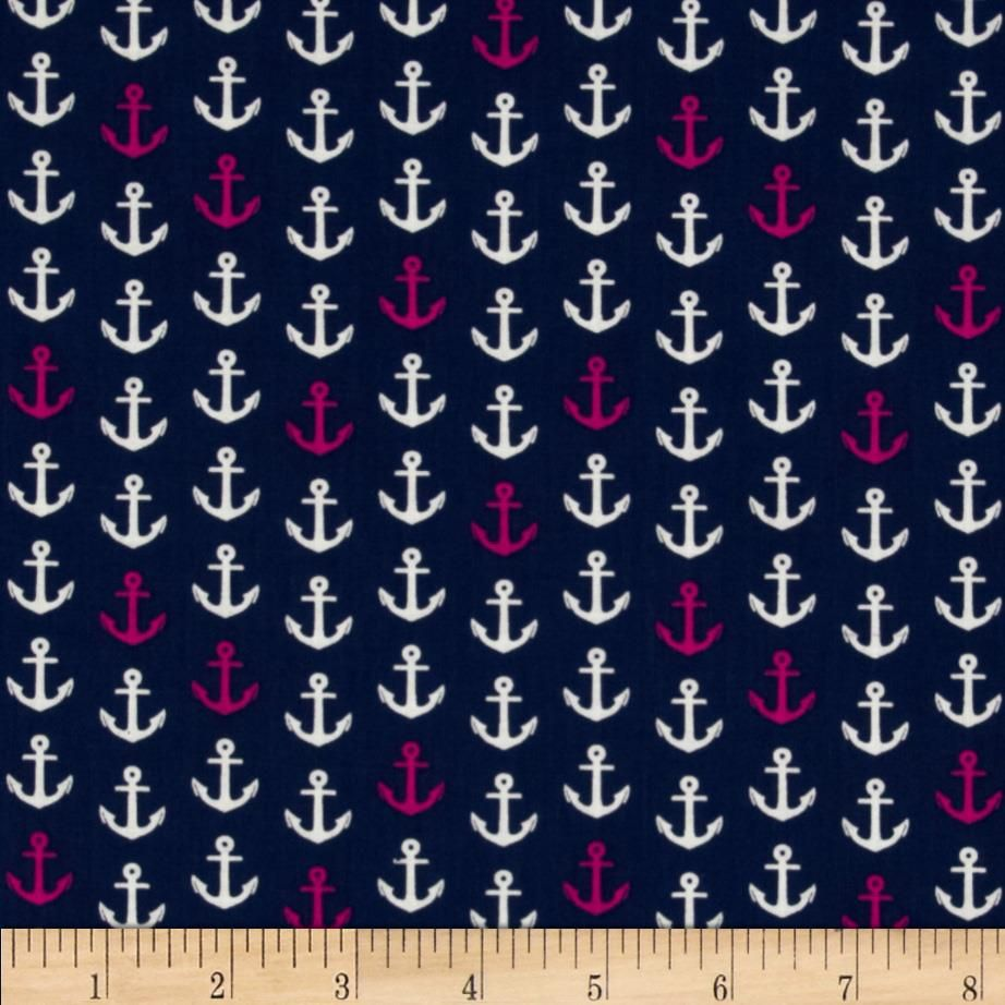 In The Navy Anchor Pink