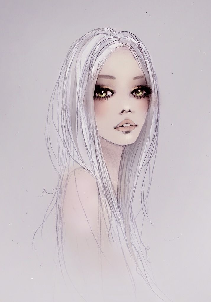 Fashion illustration by an unknown artist from Favim.com