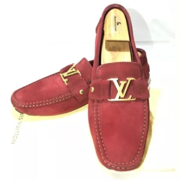 LOUIS VUITTON MONTE CARLO RED SUEDE GOLD 10 (US 11 100% authentic, comes