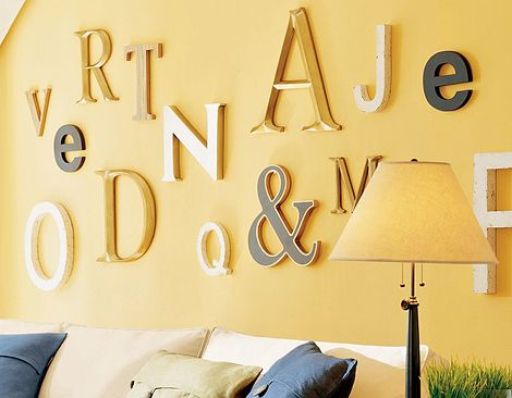 Decorating with Letters – Fun, Cool & Stylish   Home decor ...
