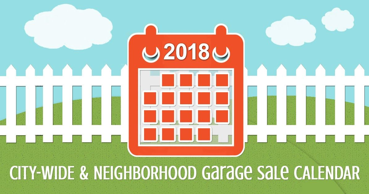 Calendar of citywide and neighborhood garage sales
