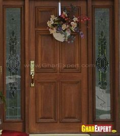 Gorgeous Wooden Main Door Designs For Home Ash Wood Solid Double Hpd418