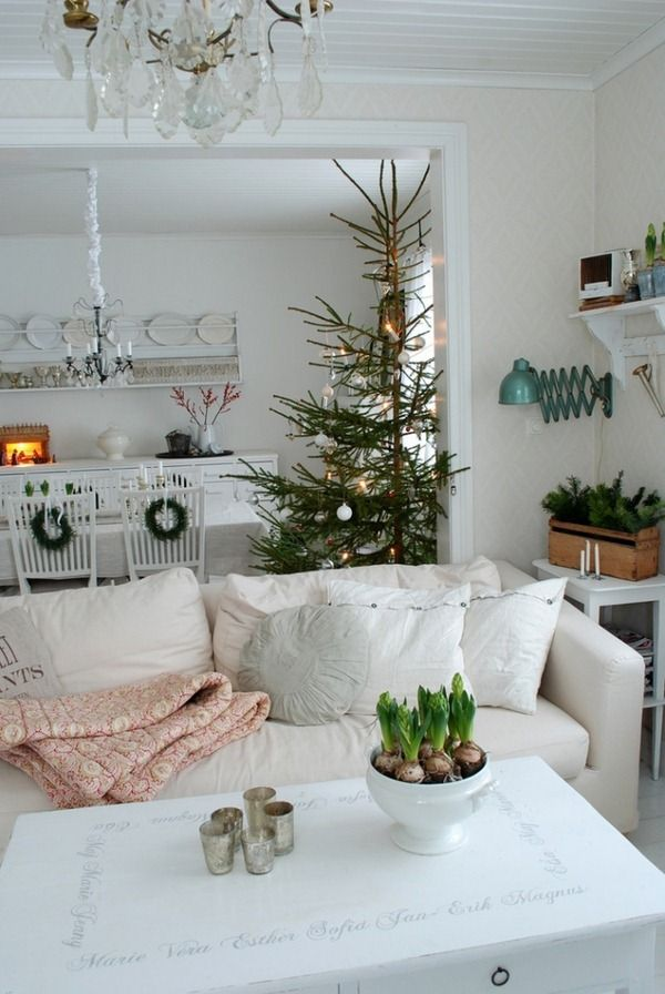 Decorations De Noel Idees Scandinave Salon Salle A Manger Home En