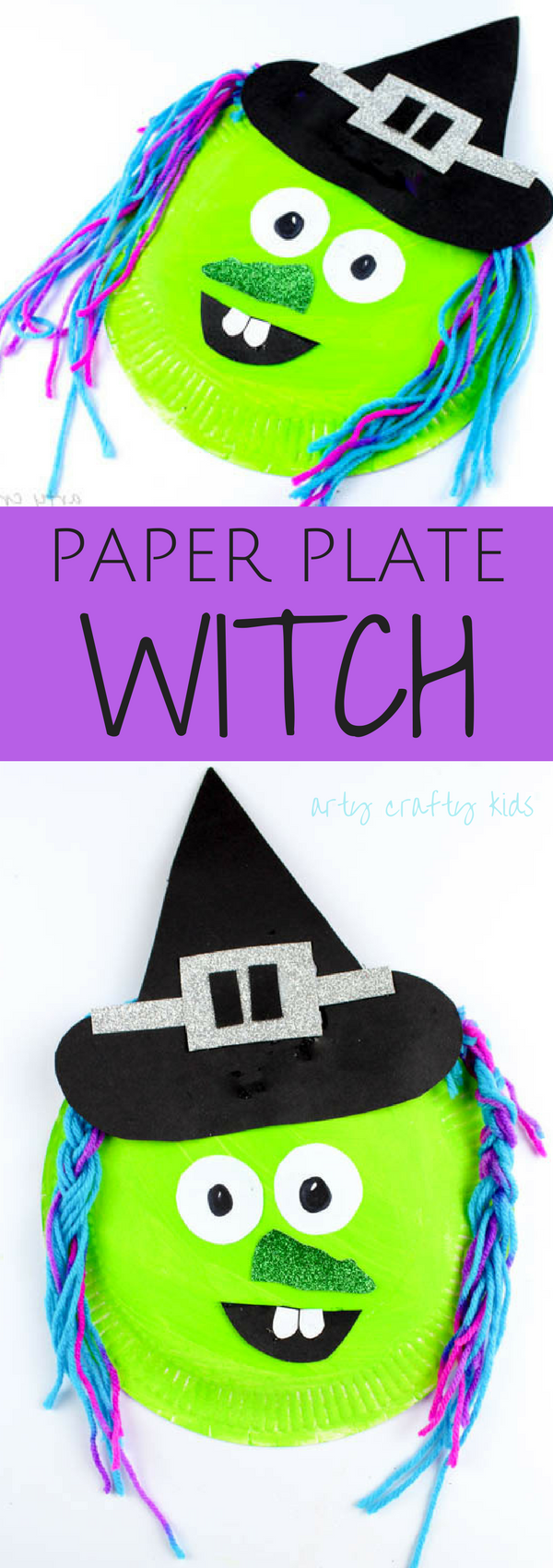 Paper Plate Witch | Arty Crafty Kids