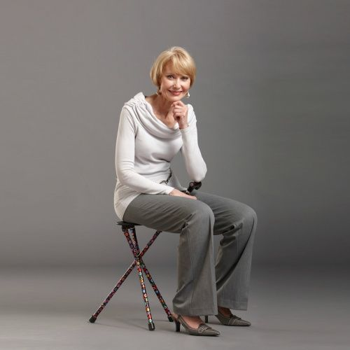 Grow your Cane Wardrobe with the Switch Sticks Seat Stick. Provides a Seat & Cane in One. In 3 patterns.