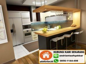Buat Furniture Kitchen Set Dan Mini Bar Murah Di Depok  Jasa Glamorous Kitchen Set Design Decorating Inspiration