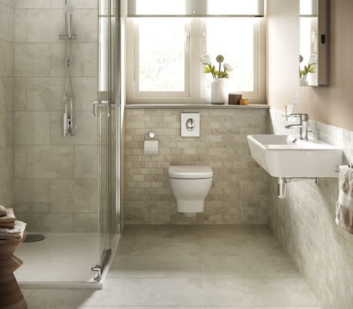 More tile to love.  Remodeling.   Check out this by Daltile Marble Falls™