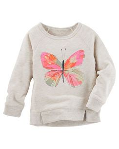 Butterfly French Terry Pullover