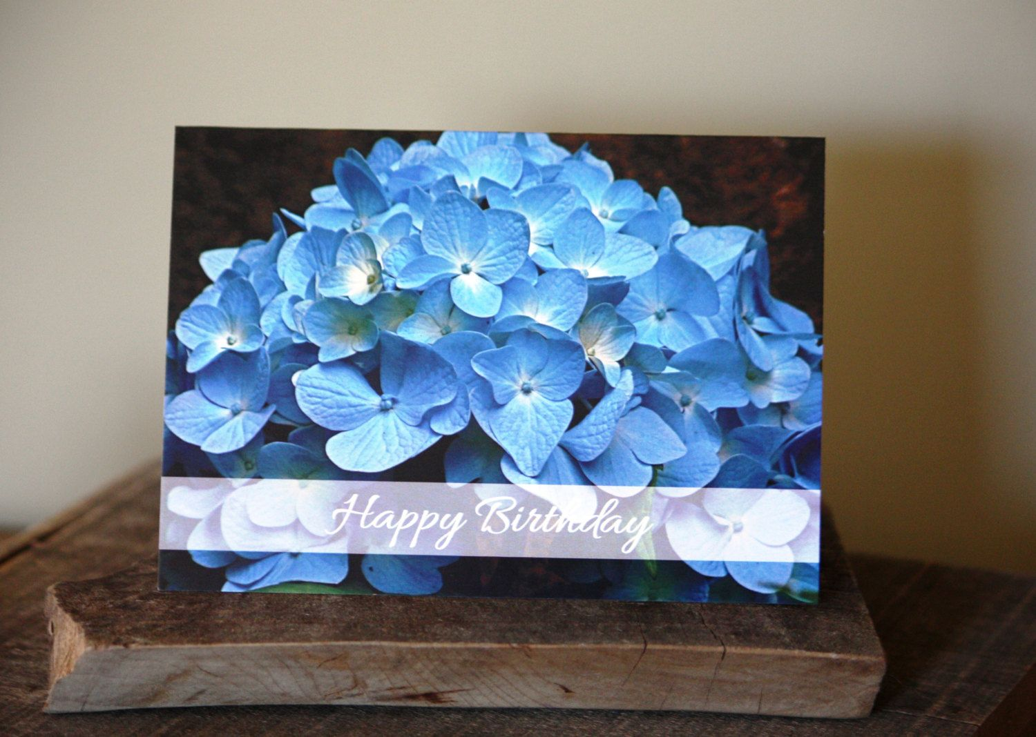 Blue hydrangea happy birthday blank card pack of 4 hydrangea blue hydrangea happy birthday blank card pack of 4 kristyandbryce Image collections