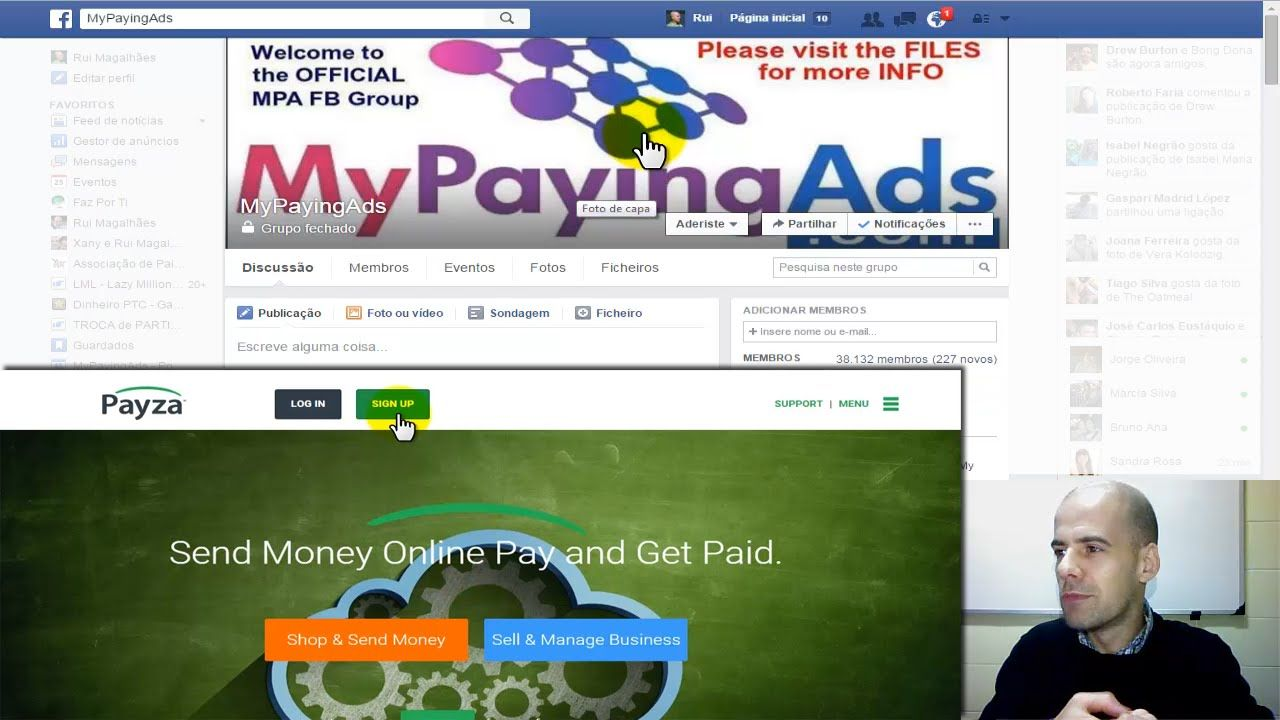 MyPayingAds: Novidades e Como Criar uma Conta Payza - Rui Magalhães