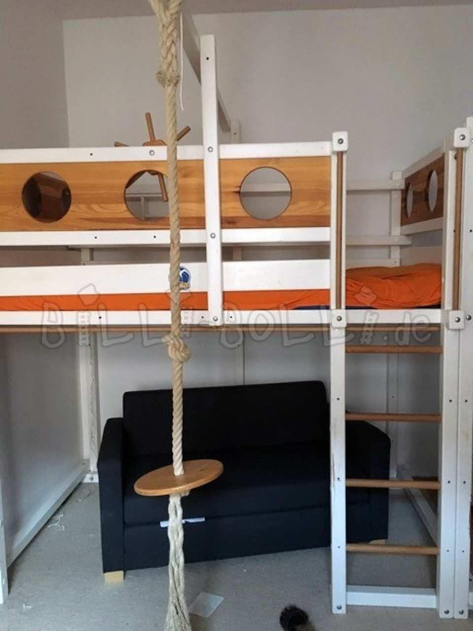 Hochbett Mitwachsend 120 X 200 Cm Kiefer Weiss Lackiert Hochbett Gebraucht Hochbett Hochbett Kinder Bett