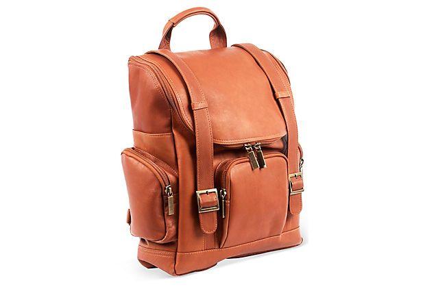 Large Leather Portofino Backpack, Saddle on OneKingsLane.com