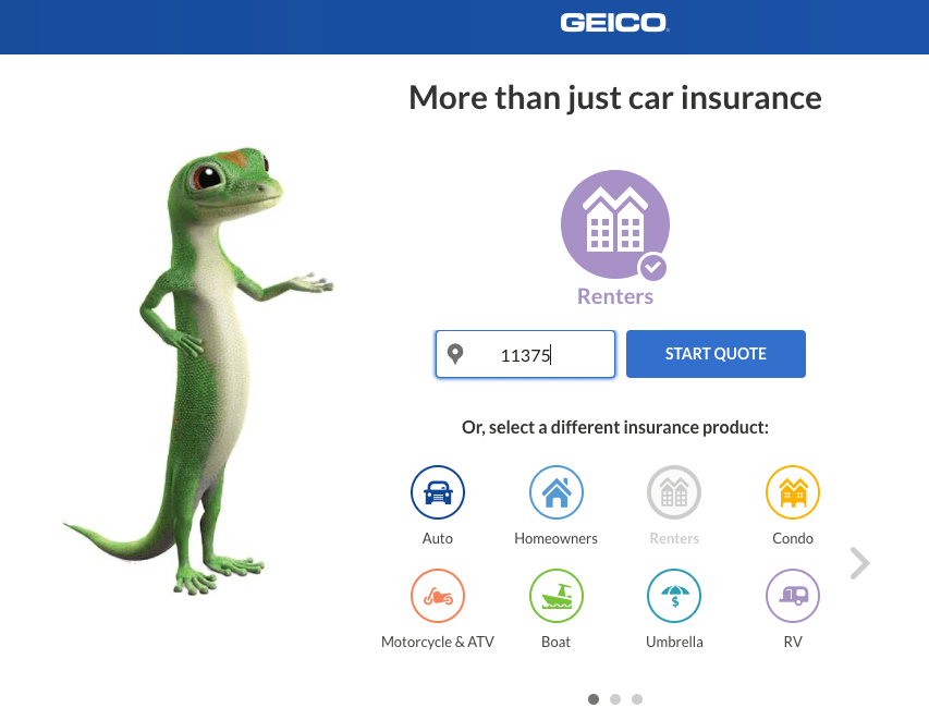 Welcome To The New Geico Renters Insurance Site Geico Auto Quote