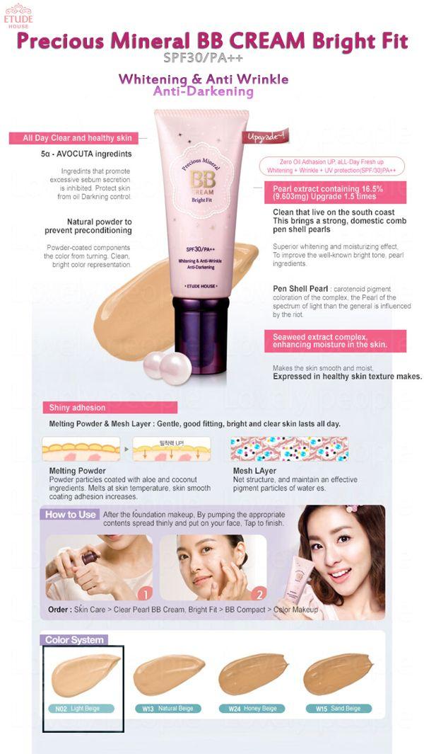 [ETUDE HOUSE] Precious Mineral BB cream Bright Fit. SPF30