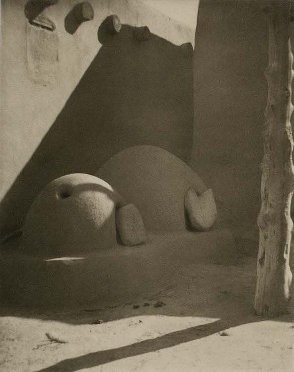 Taos Ovens, Taos Pueblo, New Mexico ~Laura Gilpin, 1926; these ovens are still in the Pueblo today...