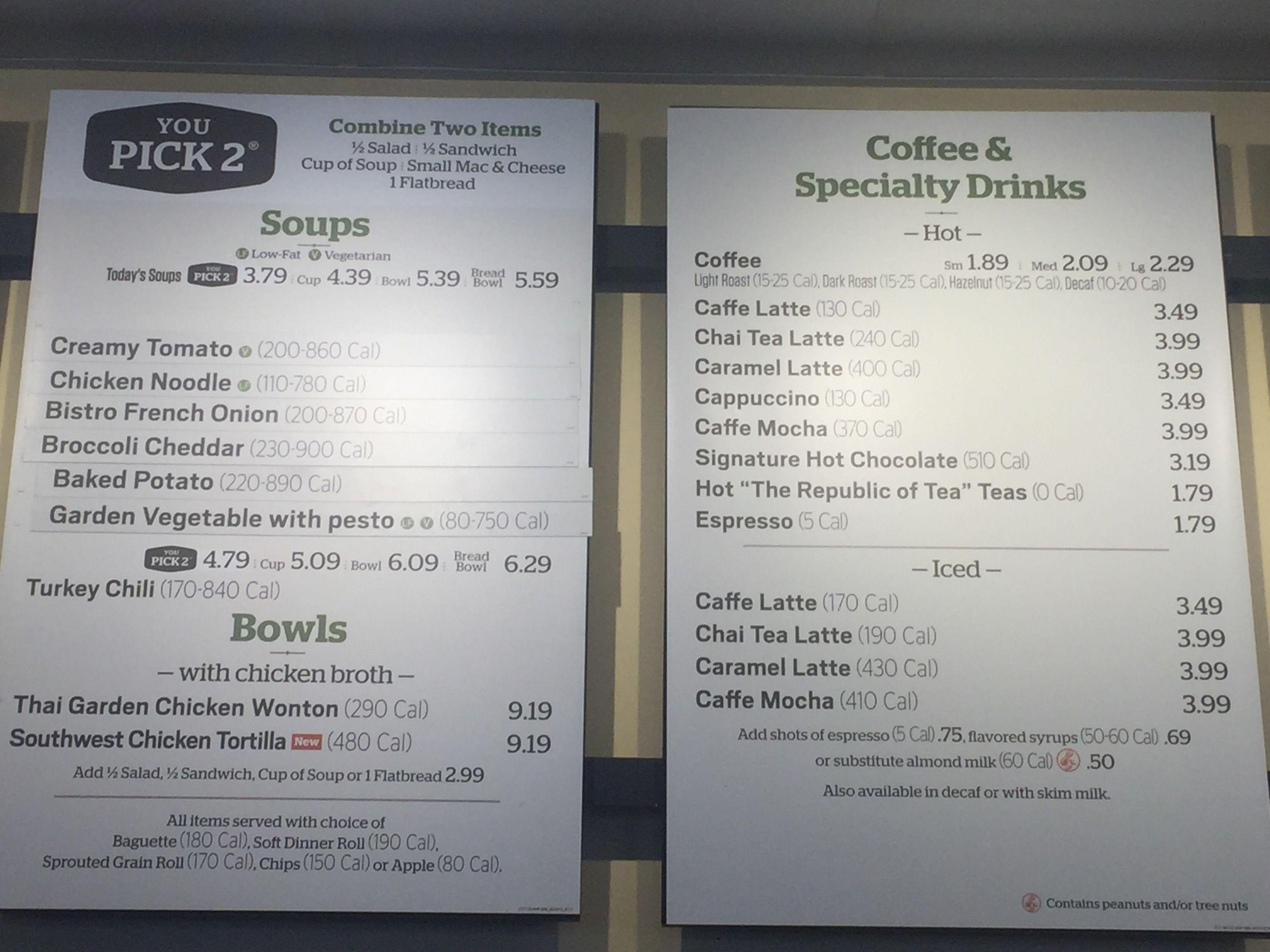 Panera, May 2017 Washington, DC Caramel latte, Tea