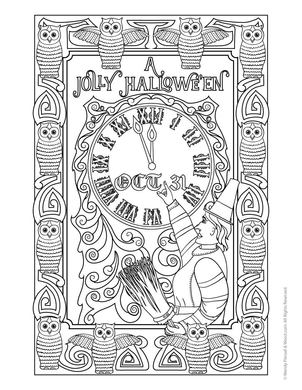 postcards coloring pages