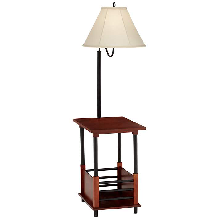 Marville Mission Style Floor Lamp With End Table 2t841 Lamps Plus Mission Style Floor Lamps Lamp Farmhouse Floor Lamps