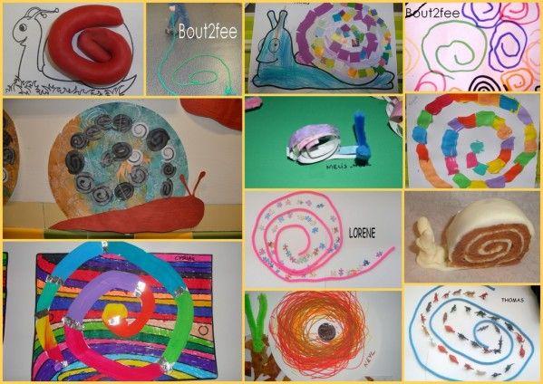 La spirale dans tous ses tats arts en maternelle pinterest escargot graphisme et spirale - Escargot maternelle ...