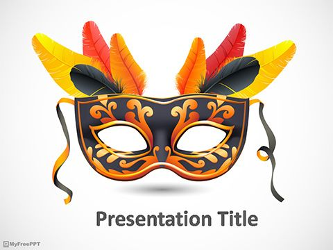 Mask powerpoint template powerpoint pinterest carnival masks mask powerpoint template toneelgroepblik Gallery