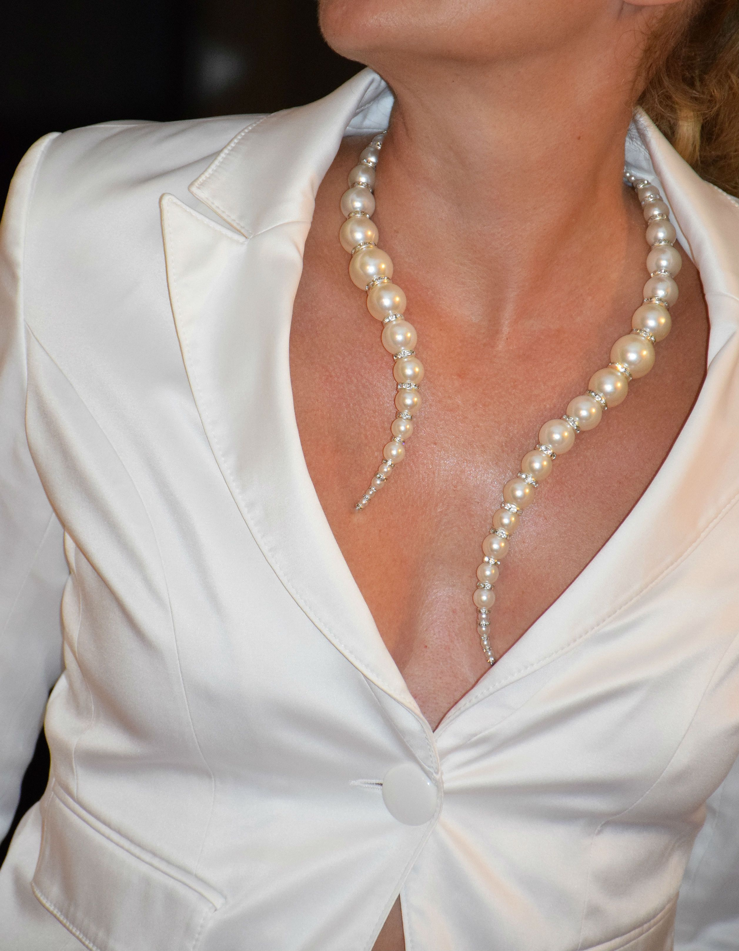 UK Bride Wedding Bridesmaid Pearl Multi-layers Choker Collar Necklace Pendant