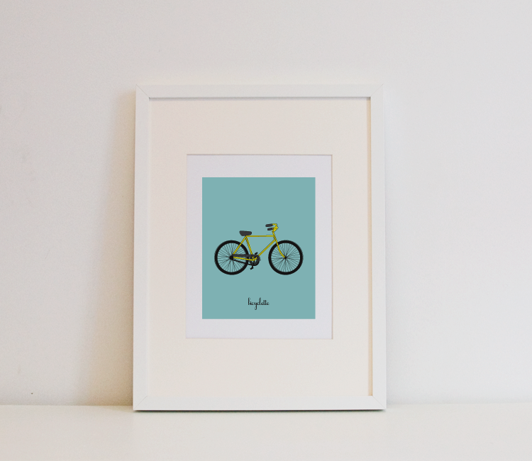Image of Bicyclette Print (French)