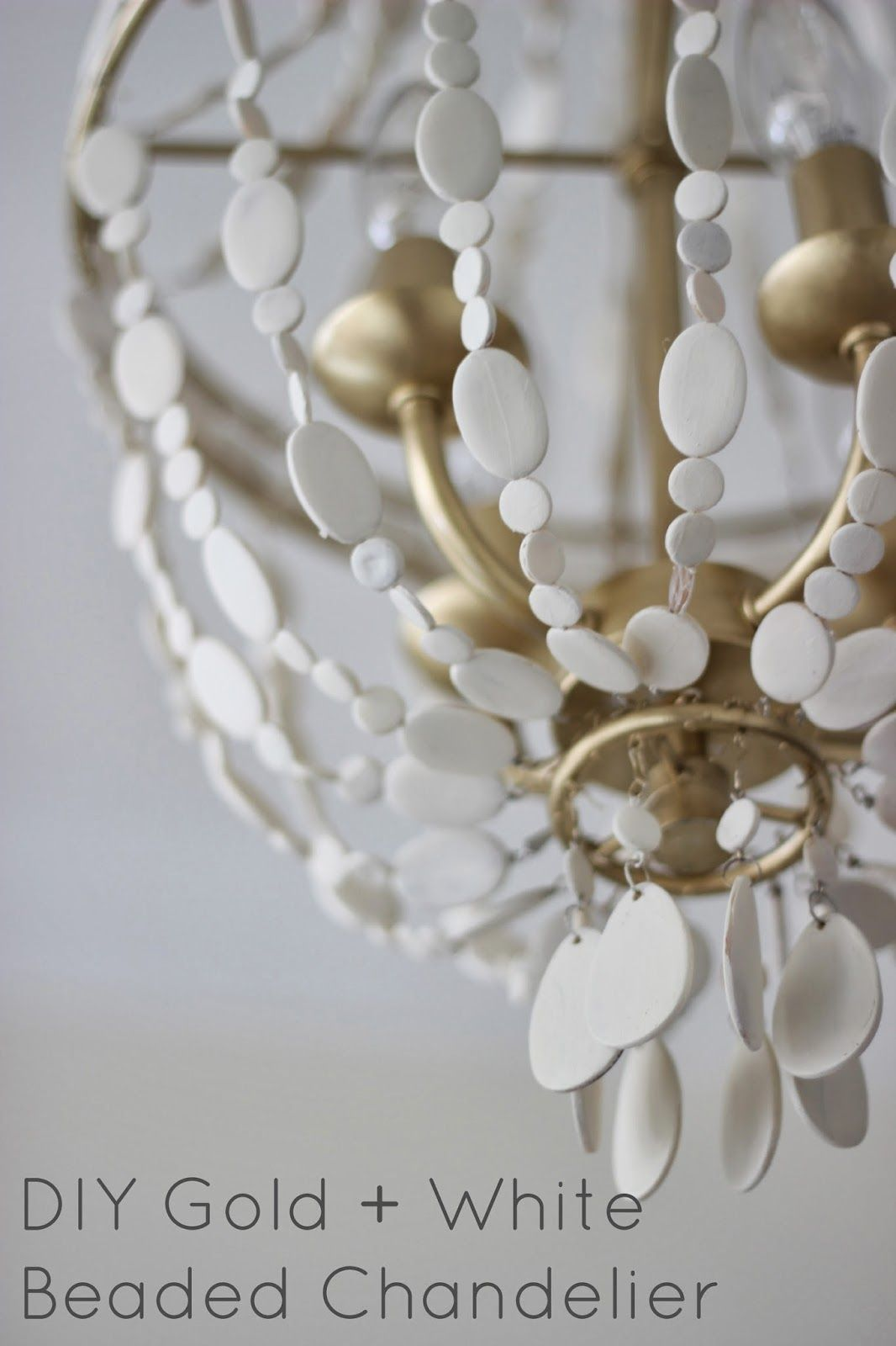 Miss dixie diy gold white beaded chandelier entry foyer miss dixie diy gold white beaded chandelier arubaitofo Image collections